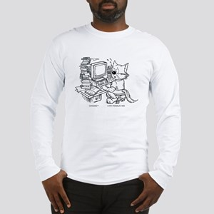Computer Cat Long Sleeve T-Shirt