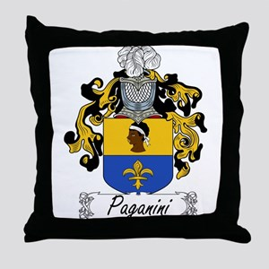Paganini Family Crest Throw Pillow