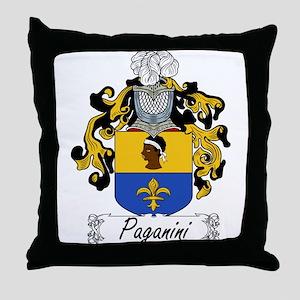 Paganini Family Crest Throw Pillow