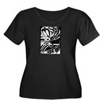 Abstract Women's Plus Size Scoop Neck Dark T-Shirt