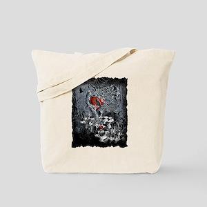 Raven Heart Dark Tree by Juleez Tote Bag
