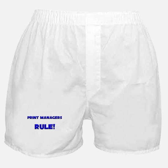Print Managers Rule! Boxer Shorts