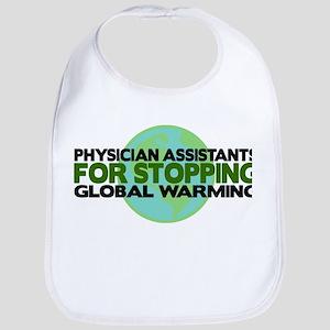 Physician Assistants Stop Global Warming Bib