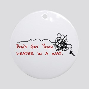 Fly Fishing Leader Ornament (Round)