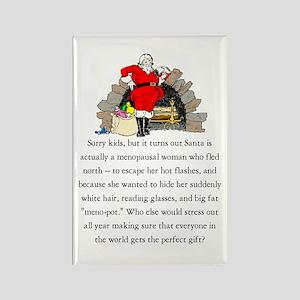 Santa is a Menopausal Woman - Rectangle Magnet