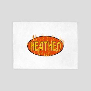 Heathen Flames 5'x7'Area Rug