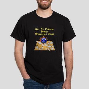 Wed. Mad Flaming Bowling Ball Dark T-Shirt