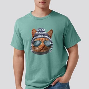 Cat Kitty Kitten In Clothes Aviators Toque T-Shirt