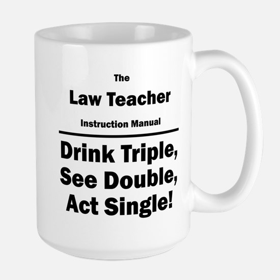 Law Teacher Large Mug