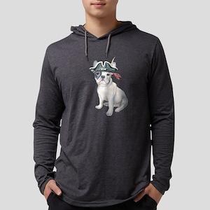Frenchie French Bulldog Pirate Long Sleeve T-Shirt