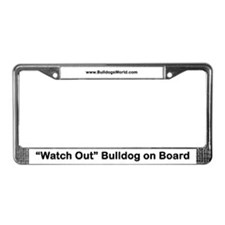 Bulldog on Board License Plate Frame