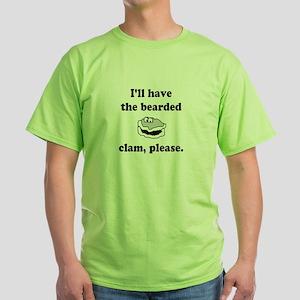 Bearded Clam Green T-Shirt