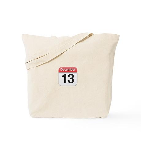 Apple iPhone Calendar December 13 Tote Bag