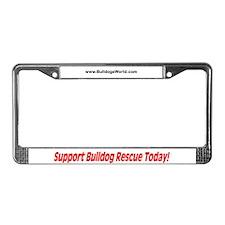 Bulldog Rescue License Plate Frame