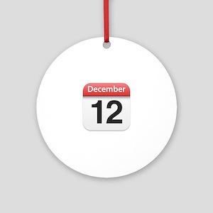 Apple iPhone Calendar December 12 Ornament (Round)
