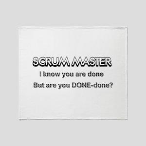 Scrum Master Done Throw Blanket