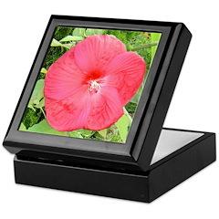 Hibiscus Disco Belle Red Keepsake Box