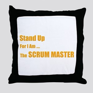Stand for the scrum master Throw Pillow