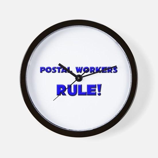 Postal Workers Rule! Wall Clock