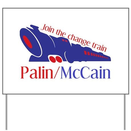 McCain Train Yard Sign