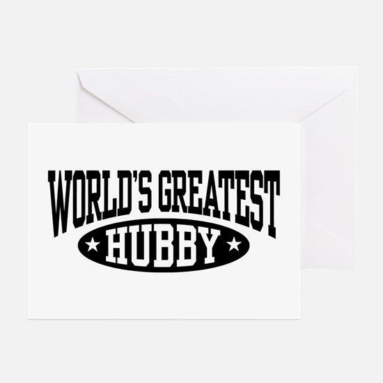 World's Greatest Hubby Greeting Cards (Pk of 10)