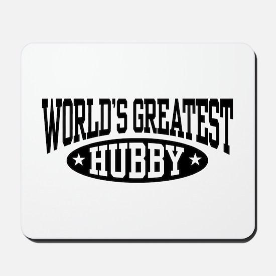 World's Greatest Hubby Mousepad