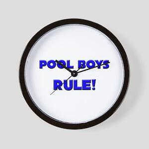 Pool Boys Rule! Wall Clock