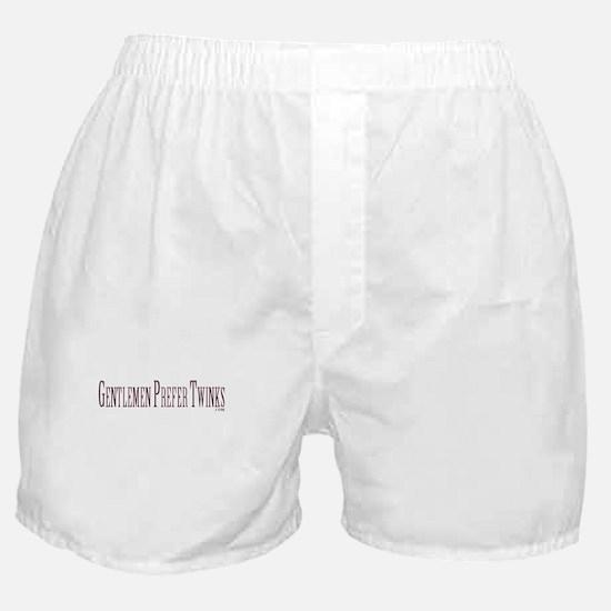 Gentlemen Prefer Twinks Boxer Shorts