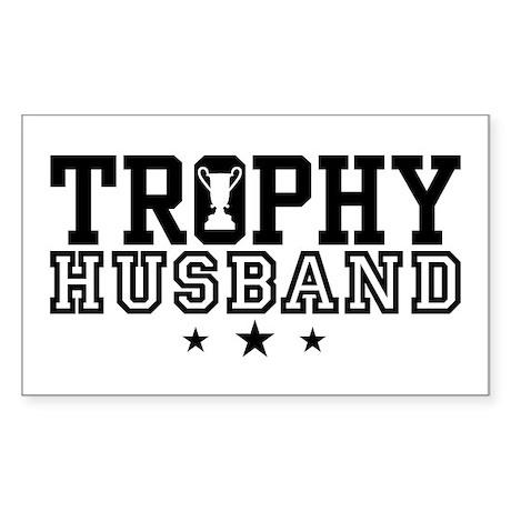 Trophy Husband Rectangle Sticker 10 pk)