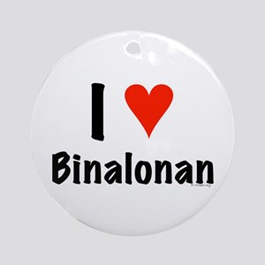 I love Binalonan Ornament (Round)