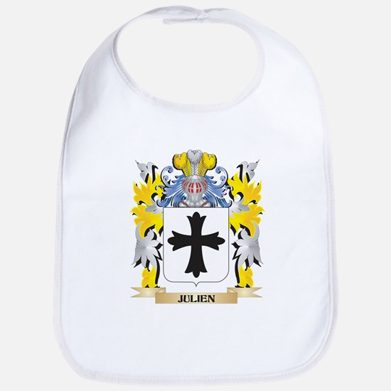 Julien Coat of Arms - Family Crest Baby Bib