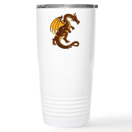 Gold Dragon Stainless Steel Travel Mug