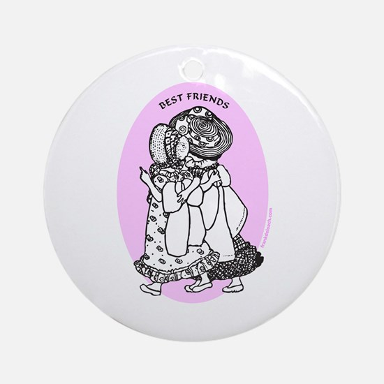 BEST FRIENDS Ornament (Round)