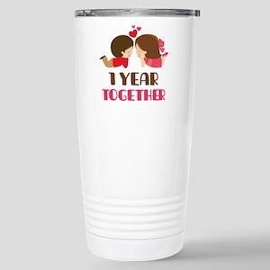 1 Year Together Anniversary Mugs
