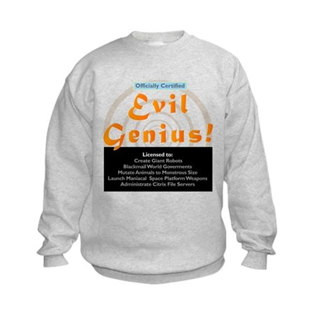 Funny Evil Genius Citrix TShi Kids Sweatshirt