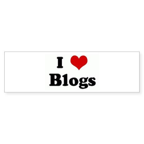 I Love Blogs Bumper Sticker (50 pk)