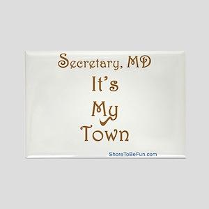 Secretary It's My Town Rectangle Magnet