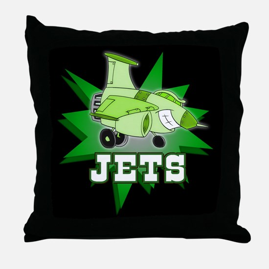 Jets Throw Pillow