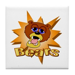 Bears Mascot Tile Coaster