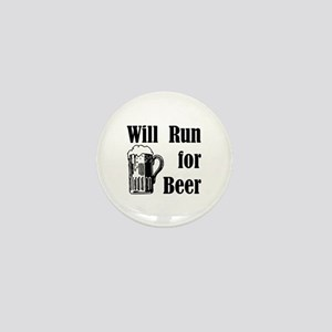 Will Run for Beer Mini Button