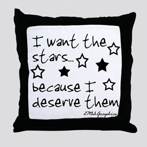 I want the STARS Throw Pillow