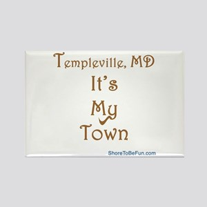 Templeville It's My Town Rectangle Magnet