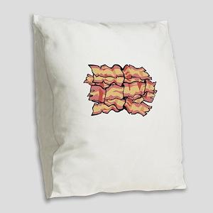 Snaccident Bacon Mistake Defin Burlap Throw Pillow