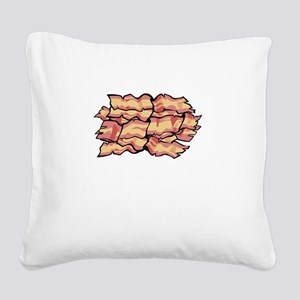 Snaccident Bacon Mistake Defi Square Canvas Pillow