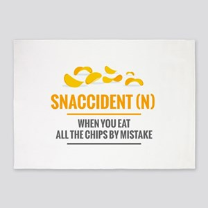 Snaccident When You Eat All The Chi 5'x7'Area Rug
