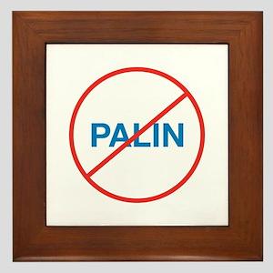 NO SARAH PALIN Framed Tile