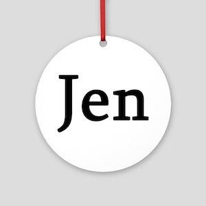 Jen - Personalized Keepsake (Round)