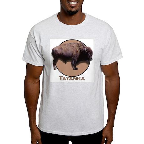 Buffalo (large front small back) Ash Grey T-Shirt