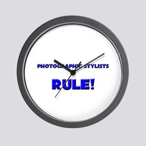 Photographic Stylists Rule! Wall Clock