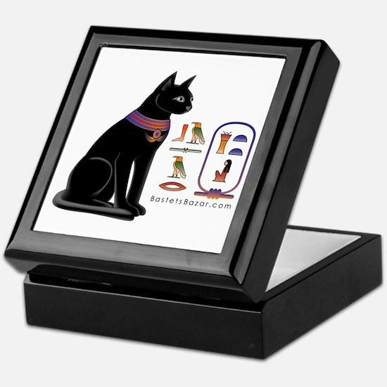 Cat Bastet & Egyptian Hieroglyphics Keepsake B